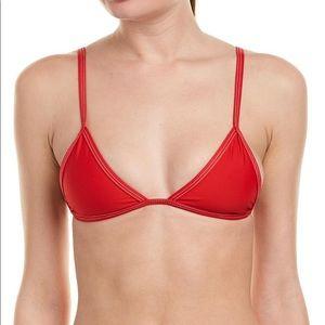 Tavik Swimwear Jett Bikini Top in Red-Size Small